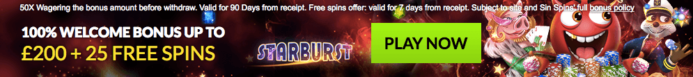 welcome bonus sinspins casino