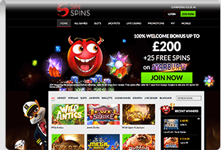 sin spins picture 1 pay by phone casino