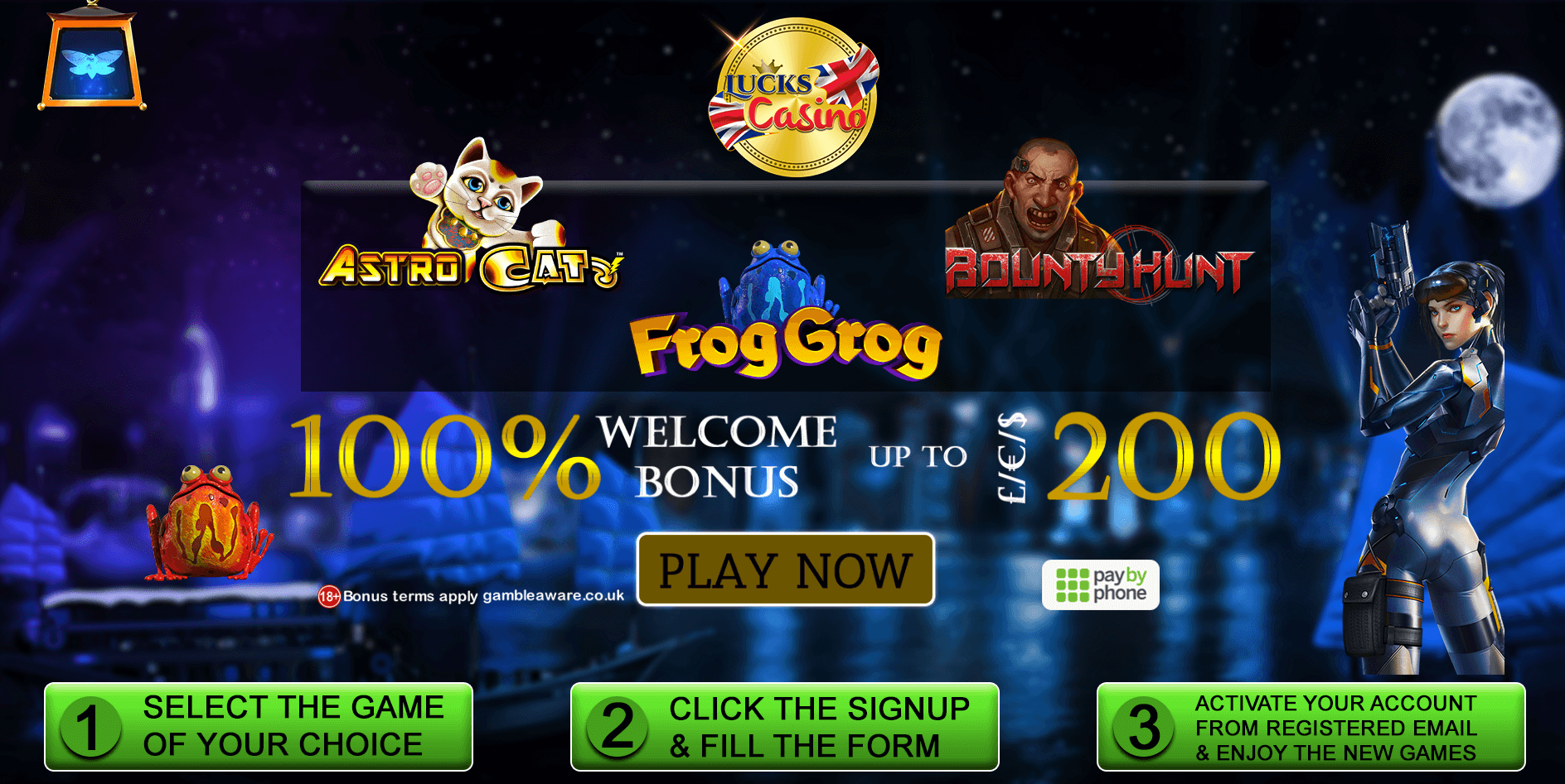 casino games pay by phone casino lucks casino