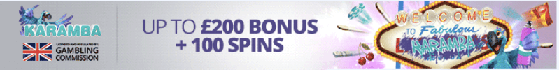 welcome bonus casino karamba