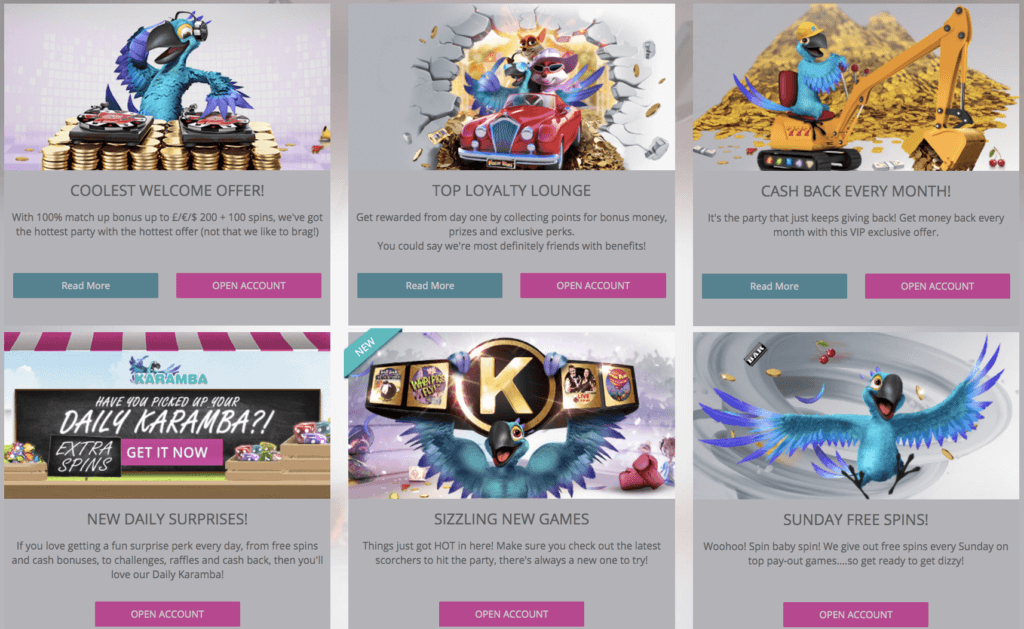 promotion casino karamba