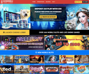 Mobireels Casino bonus new web design