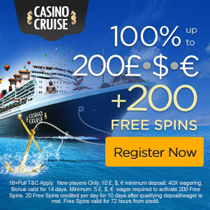 welcome bonus casino cruise