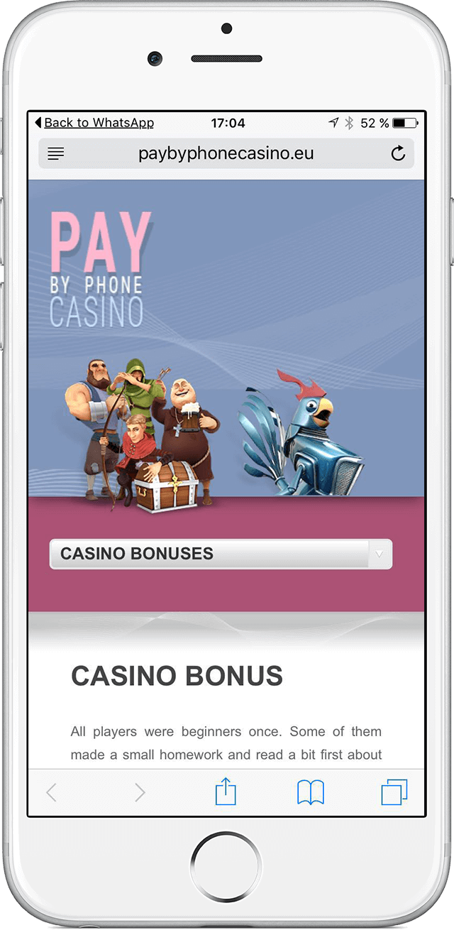 pay by phone casino Iphone