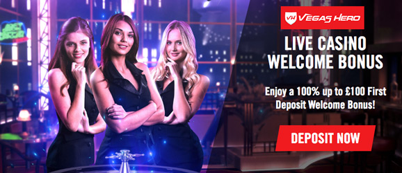 vegas hero live casino promotions